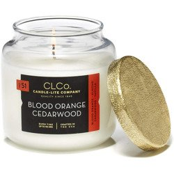 Candle-lite CLCo Candle Jar luxury scented candle 14 oz 396 g - No. 51 Blood Orange Cedarwood