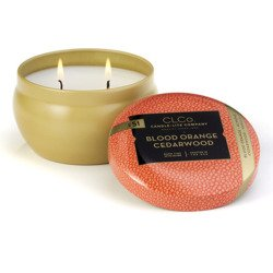 Candle-lite CLCo luxury scented candle 2 wick tin 6.25 oz 177 g - No. 51 Blood Orange Cedarwood