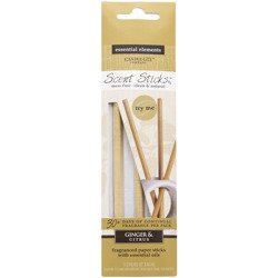 Candle-lite Essential Elements ScentSticks fragranced paper sticks with essential oils - Ginger & Citrus
