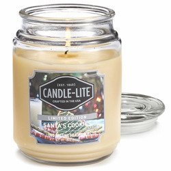 Candle-lite Everyday Collection Large Scented Jar Glass Candle 18 oz 145/100 mm 510 g ~ 110 h - Santa's Cookies