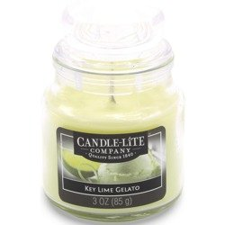 Candle-lite Everyday Collection Scented Small Jar Glass Candle With Lid 3 oz 95/60 mm - Key Lime Gelato