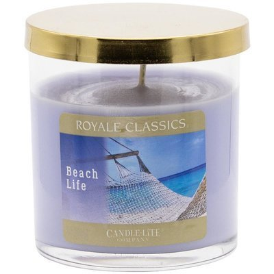 Candle-lite Royale Classics premium scented candle tumbler gold 8 oz 226 g - Beach Life