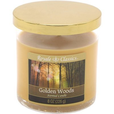 Candle-lite Royale Classics premium scented candle tumbler gold 8 oz 226 g - Golden Woods