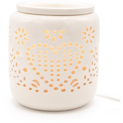 Electric white wax burner for scented wax melts Romance white