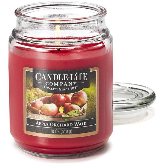 Candle-lite Everyday Collection Large Scented Candle Glass Jar 18 oz 510 g – Apple Orchard Walk