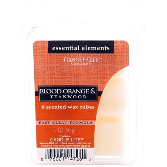 Candle-lite Essential Elements Wax Cubes 2 oz wosk zapachowy sojowy z olejkami eterycznymi 56 g ~ 10 h - Blood Orange & Teakwood