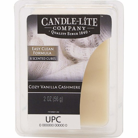 Candle-lite Everyday Collection Highly Fragranced Wax Cubes 2 oz intensywny wosk zapachowy kostki 56 g ~ 60 h - Cozy Vanilla Cashmere