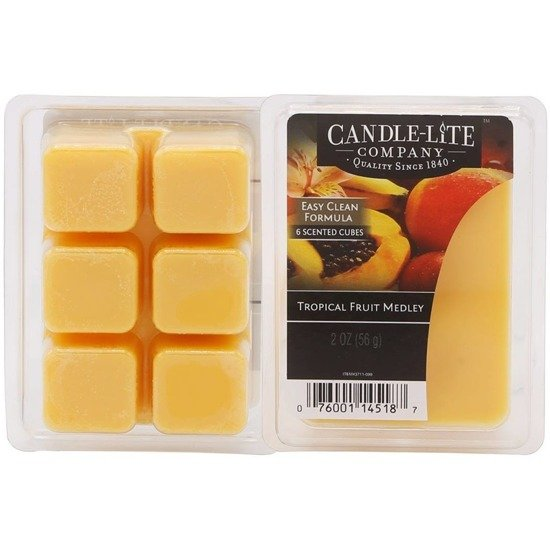 Candle-lite Everyday Collection Highly Fragranced Wax Cubes 2 oz intensywny wosk zapachowy kostki 56 g ~ 60 h - Tropical Fruit Medley
